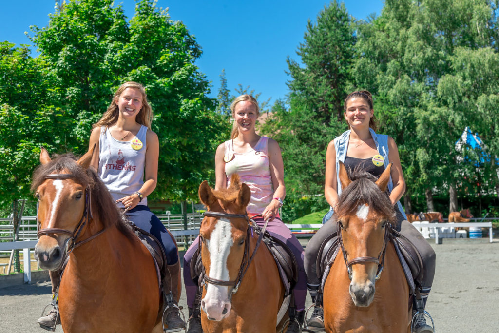 horse riding at summer camp staff